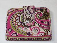 Vera Bradley wallet clutch id coin womens ladies pink burgandy green preowned