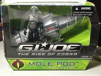GI Joe Rise of Cobra MOLE POD & TERRA VIPER FIGURE New in Box