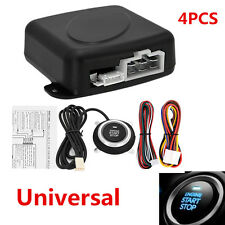 4pc Auto SUV Alarm System Keyless Entry Engine Passive Keyless Entry Push Button