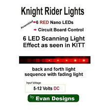 Knight Rider Red LED Chaser Circuit. Perfect for KITT Car, Diecast, R/C, Drones