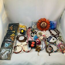 Destash Costume Jewelry Lot Necklaces Earrings Rings Bracelets Beaded Crafts 30M