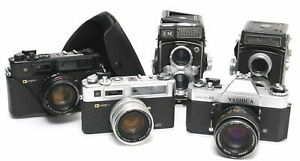 Lot of 5 x Yashica cameras divers NOT  TESTED for Tinkers and Collectors  Samml