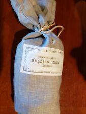 One Restoration Hardware Vintage Washed Belgian Linen Euro Pillow Sham Fog