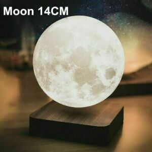 Moon Lamp Creative 3D Magnetic Levitation Night Light Rotate LED Home Deco Gift