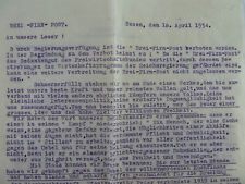 2 by strikes 1934: three-névé-Post: Ban arrangement and letter to the reader.