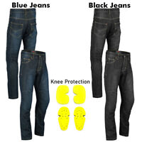 New Mens Motorcycle Jeans Motorbike Pants Reinforced Denim Trousers CE Armoured