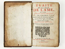 1729 Traite de L' Ame et du Contentement de L'Esprit by P Moulin