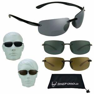 Sports Bifocal Sunglasses Reading Glasses Rimless Light Sun Readers 1.5 - 3.0