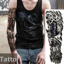 1x Full Arm Temporary Robot Tattoo Sleeve Sticker Body Art Tattoo Terminator Hot