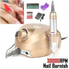 30000RPM Golden Electric Manicure Pedicure False Nail Art File Drill Machine