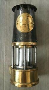 1980 Brass & Steel Protector Eccles Type SL B/120 Miners Lamp Wheldale