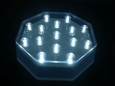 LED LIGHT BASE WITH 15 WHITE LIGHTS VASE UP LIGHTER WEDDING TABLE CENTREPIECE