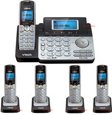 Vtech DS6151 DECT 5 Phone 2-Line Cordless Phone DS6151 + 4 DS6101 Telephone Set