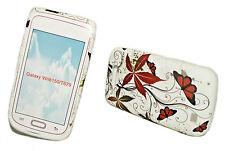Design no. 1 Silicone TPU Cover Case + Pellicola Protettiva Display Samsung i8150 Galaxy W