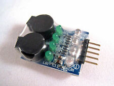 On Board Low Voltage Alarm (2S-4S) for Lithium Polymer Batteries Lipo Lipoly H2