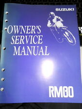 Suzuki Owners Service Manual 1992 RM80 N