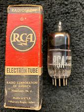1 NOS NIB RCA 12AY7 Square Getter Tube USA 1953