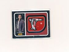 PATCH POE DAMERON STAR WARS THE LAST JEDI 2017 TOPPS GALACTIC EMBLEM RELIC