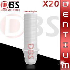 20X Dental Plastic Abutment For Dentium Regular Platform With Hex + Screw