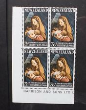 NEW ZEALAND 1966 Christmas Virgin & Child. BLOCK of 4. Mint Never Hinged. SG842.