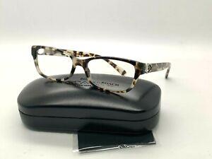 NEW Authentic Coach Eyeglasses HC 6119 5578 GREY TORTOISE 53-16-140MM/CASE&CLOTH