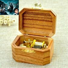 Natural Wood Octagon Wind Up Music Box : Harry Potter Hedwigs Theme Song