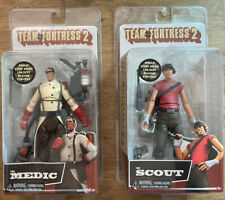 """[Lot of 2] NIB NECA Team Fortress 2 7"""" Scale Action Figures SCOUT, MEDIC"""