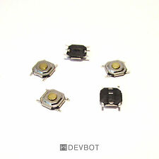 5x Bouton poussoir SMD 5x5x1,5mm. Switch, CMS, Arduino, Pi.