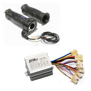 24v 350w Brush Motor Speed Controller + Throttle Grip Electric Scooter ATV Razor