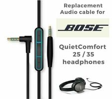 Genuine for BOSE QC25 headphones inline mic/remote cable for Apple devices Black