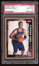 2008-09 Fleer NBA Rookie #210 Brook Lopez RC! PSA 10 GEM! New Jersey NETS!
