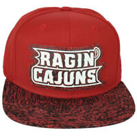 NCAA Adidas Louisiana Ragin Cajuns 149VZ White Noise Hat Cap Snapback Red
