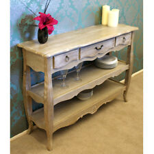 Bordeaux Console Table with 3 Drawers and 2 Shelves in French Style Shabby Chic