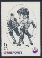 1986-87 Kraft Sports Hockey Card Jari Kurri (Rare Blueback version)