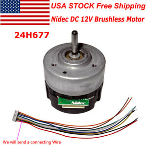 Nidec DC 12V Brushless Motor With Built-in Driver Hall CW/CCW PWM Brake Function