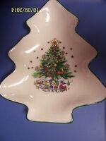 "Salem China CHRISTMAS EVE - Small 6"" TREE SHAPED Fine China  Dish Candy Nut"