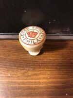 Antique 1893 Chas Ehinger Phila Porcelain  Beer Bottle Stopper Cap Philadelphia