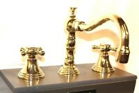 Jado Victorian Widespread Lavatory Faucet, Cross Handles Brass STORE DISPLAY