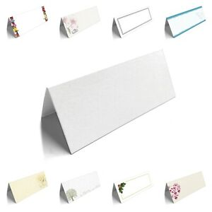 Table Place Name Cards  Blank Plain for Wedding, Conference, Parties, Christmas