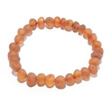 Genuine Raw Baltic Amber Bracelet for Adult Stretch Baroque Beads Choose Color