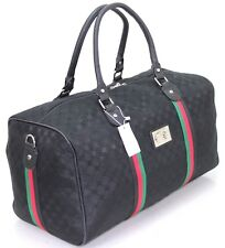 Large Designer Inspired Holdall Gym Luggage Duffel Cabin Travel Case Bag Black