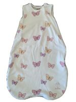 Woolino 4 Season Merino Wool Baby Sleeping Sack 0-6m, Butterfly Butterflies EUC