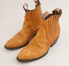 Pair 6 Potros Gauch Coybow Gator Alligator Boots Snake Reptile 7.5 (A1R)