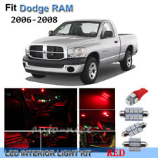 For 2006-2008 Dodge RAM 1500 2500 3500 Premium Red LED Interior Lights Kit 6Pcs