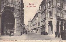 8846) TORINO VIA PIETRO MICCA AFFOLLATA NEGOZIO UNIONE MILITARE VG 1905.