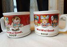 Campbell's Soup Kids Mug Policewoman Fireman Doctor Nurse ConductrSet of 2 1993