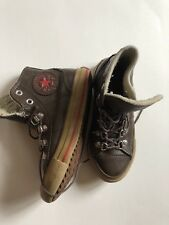 Converse Kids Unisex All Star Brown Leather Hi-Top Sneakers Size 13