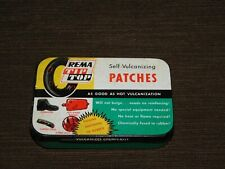 """VINTAGE 3 1/2"""" WIDE REMA TIP TOP BICYCLE RUBBER TIRE  REPAIR KIT IN TIN"""