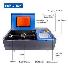 New In Box Omtech 40w Co2 Laser Engraver Cutting Machine With 8x12 Area Lcd