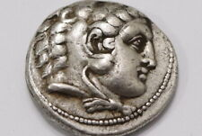 Alexander the Great III AR Tetradrachm Coin 336-323 BC SHARP DETAILS B24 #Z875